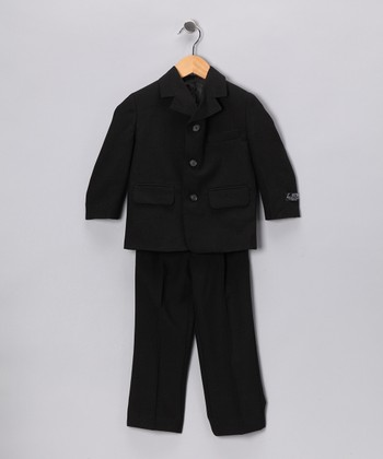 Black Two-Piece Suit Set - Toddler & Boys