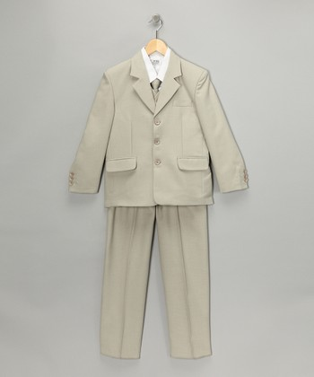 Olive Five-Piece Suit Set - Boys