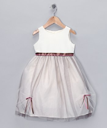 Brown & Pink Pick-Up Dress - Toddler & Girls