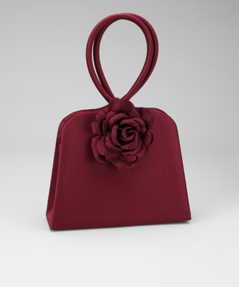 Burgundy Rose Purse