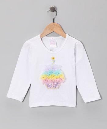 White Cupcake Tee - Infant, Toddler & Girls
