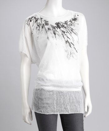 White Layered Peasant Top