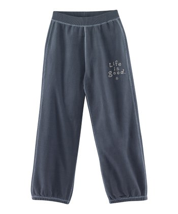 True Blue 'Life is Good' Soft Wash Sweatpants - Toddler & Boys