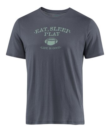 True Blue 'Eat Sleep Play' Short-Sleeve Sleep Tee - Men