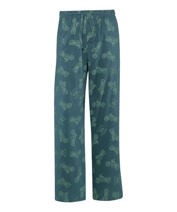 Spruce Green Motorcycle Pajama Pants - Men