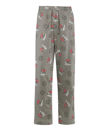 Warm Gray Winter Grill Pajama Pants - Men