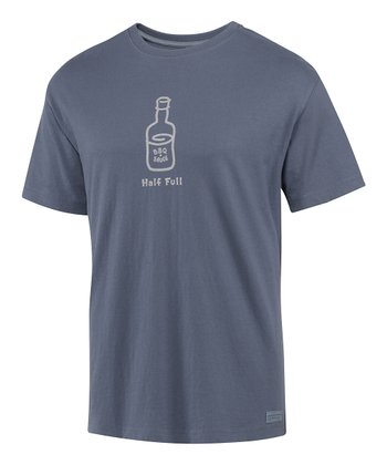 True Blue 'Half Full' Crusher Short-Sleeve Tee - Men