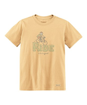Classic Gold 'Ride' Short-Sleeve Crusher Tee - Boys