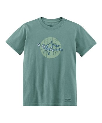 Pine Green Goal Short-Sleeve Crusher Tee - Boys