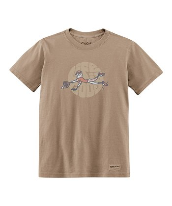 Light Brown Glove Short-Sleeve Crusher Tee - Boys