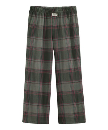 Dark Gray Plaid Pajama Pants - Toddler & Boys