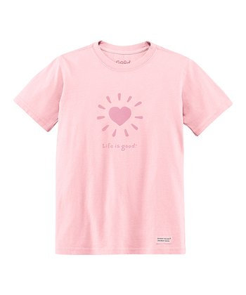 Pink Love Light Short-Sleeve Crusher Tee - Toddler