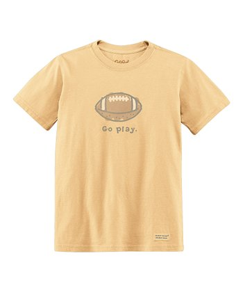 Classic Gold 'Go Play' Short-Sleeve Crusher Tee - Toddler