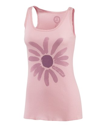 Pink Joyful Daisy Sleep Tank - Women