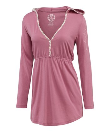 Pale Rose Hooded Sleep Tunic - Women