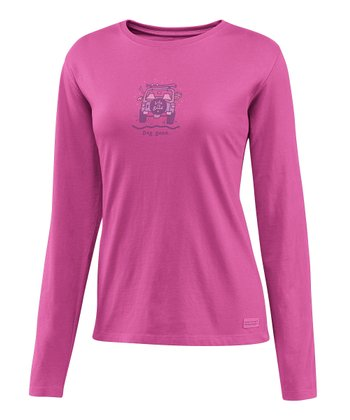 Magenta 'Dog Gone' Crusher Long-Sleeve Tee - Women