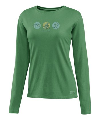 Simply Green Jackie Triathlon Crusher Long-Sleeve Tee - Women
