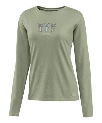Simply Moss Horse Crusher Long-Sleeve Tee - Women