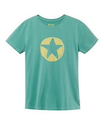Teal Impression Star Short-Sleeve Creamy Tee - Toddler & Girls