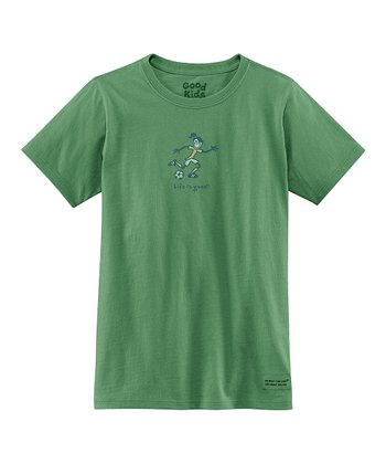 Green Kick Soccer Short-Sleeve Crusher Tee - Girls