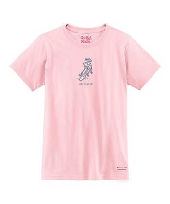 Pink Bike Short-Sleeve Crusher Tee - Girls
