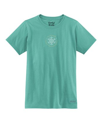 Teal 'Be Yourself' Short-Sleeve Crusher Tee - Girls