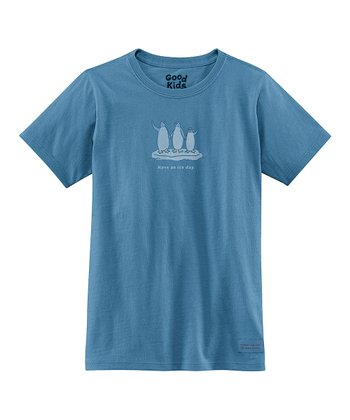 Simply Blue 'Have an Ice Day' Short-Sleeve Crusher Tee - Girls