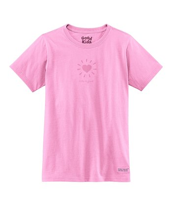 Peony Pink Love Light Short-Sleeve Crusher Tee - Girls