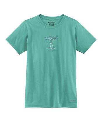 Teal Snowboard Short-Sleeve Crusher Tee - Girls