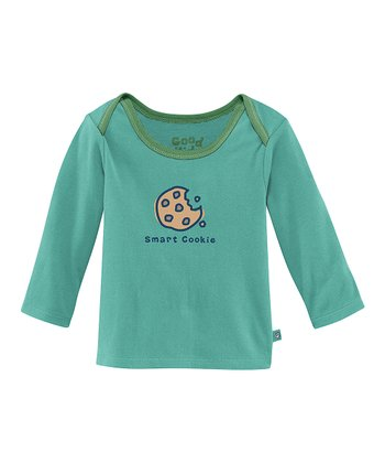 Teal 'Smart Cookie' Lap Neck Tee - Infant