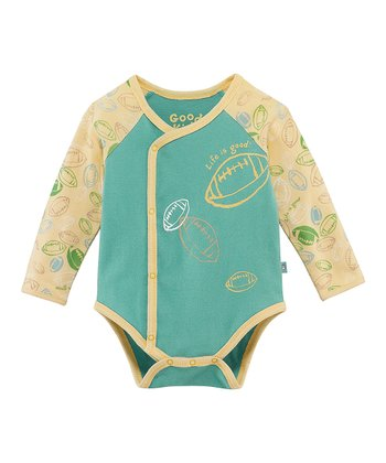Teal Football Wrap Bodysuit - Infant