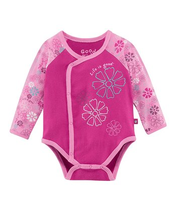 Magenta Flower Wrap Bodysuit - Infant