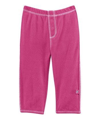 Magenta Front-Snap Pants - Infant