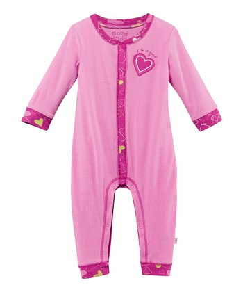 Peony Pink Heart Playsuit - Infant