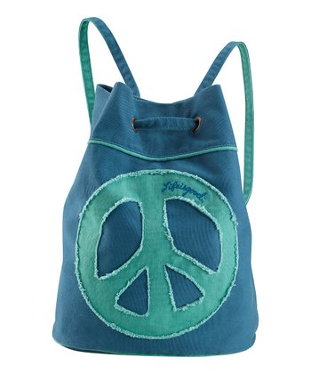 Simply Blue Peace Cinch Sack