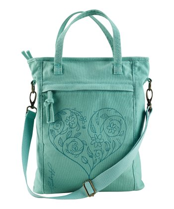 Soft Teal Karma Slim Organic Shopper