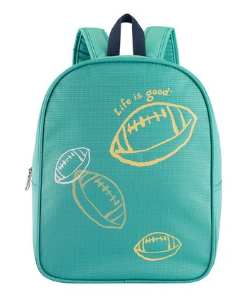 Teal Football Backpack