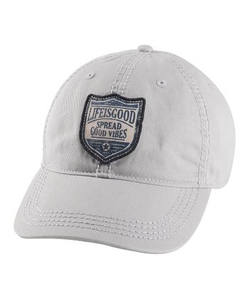 Simply Light Gray Patch Choice Baseball Cap - Men