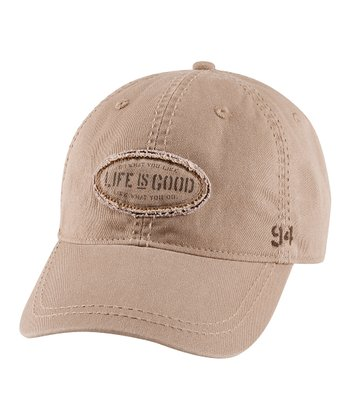 Simply Light Brown 'Do What You Like' Choice Baseball Cap - Men