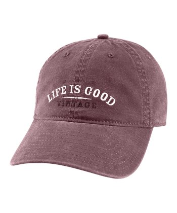 Burgundy 'Vintage' Buttery Soft Baseball Cap - Men