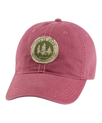 Burgundy Tattered Get Lost Chill Baseball Cap - Men