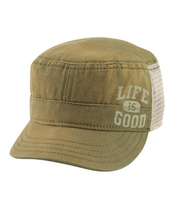 Simply Dark Green Athletic Cadet Cap - Men