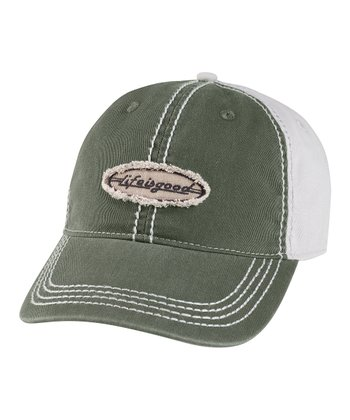 Spruce Green Color Block Baseball Cap - Men