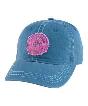 Simply Blue Stamped Daisy Choice Baseball Cap - Women