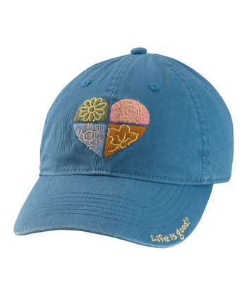 Simply Blue Four Season Heart Chill Baseball Cap - Women