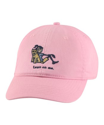 Pink 'Lean on Me' Chill Baseball Cap - Women