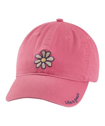 Dusty Pink Daisy Chill Baseball Cap - Women