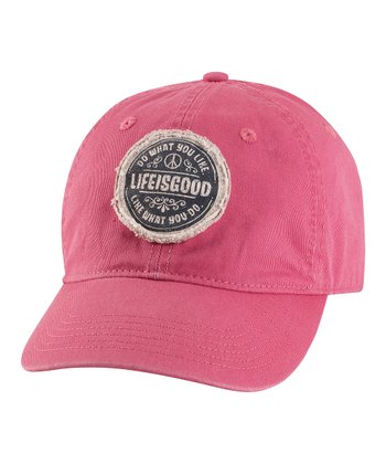 Dusty Pink 'Do What You Like' Chill Baseball Cap - Women