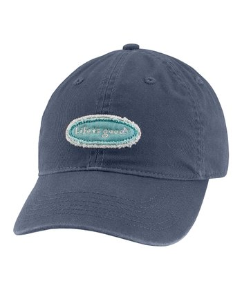 True Blue Tattered Logo Chill Baseball Cap - Women