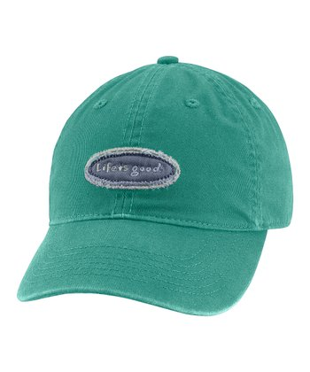 Teal Tattered Logo Chill Baseball Cap - Women